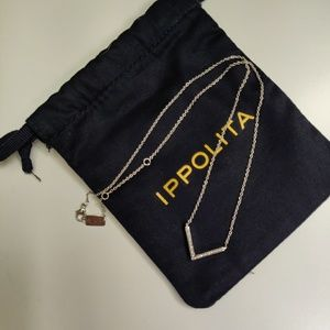 Ippolita Diamond Silver Stardust V Necklace